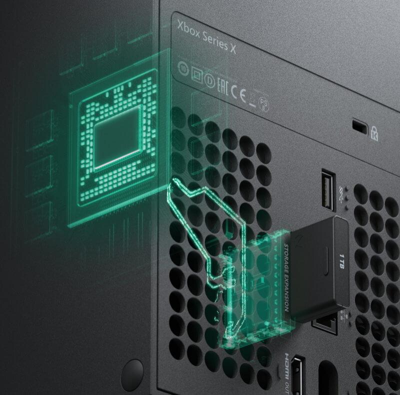 Xbox Series X 専用拡張カード 差込口
